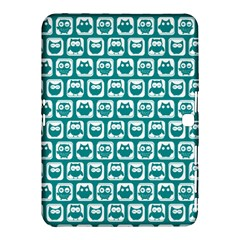 Teal And White Owl Pattern Samsung Galaxy Tab 4 (10 1 ) Hardshell Case