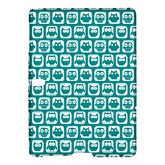 Teal And White Owl Pattern Samsung Galaxy Tab S (10.5 ) Hardshell Case