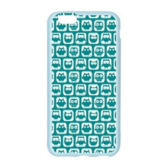 Teal And White Owl Pattern Apple Seamless iPhone 6 Case (Color)