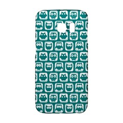 Teal And White Owl Pattern Galaxy S6 Edge