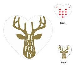 Life Is A Party Buck Deer Playing Cards (heart)