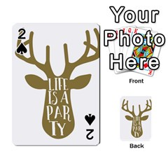 Life Is A Party Buck Deer Playing Cards 54 Designs