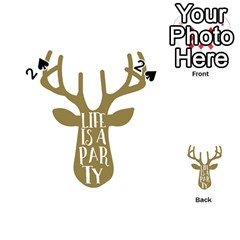 Life Is A Party Buck Deer Playing Cards 54 (heart)