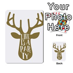 Life Is A Party Buck Deer Multi-purpose Cards (Rectangle)