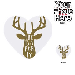 Life Is A Party Buck Deer Multi-purpose Cards (Heart)