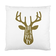 Life Is A Party Buck Deer Standard Cushion Cases (Two Sides)