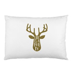 Life Is A Party Buck Deer Pillow Cases