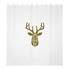 Life Is A Party Buck Deer Shower Curtain 66  x 72  (Large)