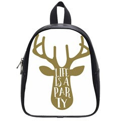 Life Is A Party Buck Deer School Bags (Small)
