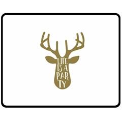 Life Is A Party Buck Deer Fleece Blanket (medium)