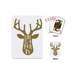 Life Is A Party Buck Deer Playing Cards (Mini)