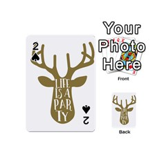 Life Is A Party Buck Deer Playing Cards 54 (Mini)