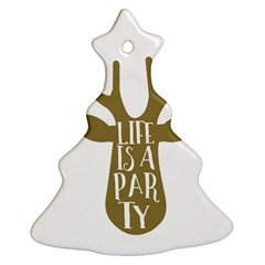 Life Is A Party Buck Deer Ornament (christmas Tree)