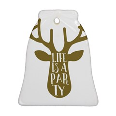 Life Is A Party Buck Deer Ornament (Bell)