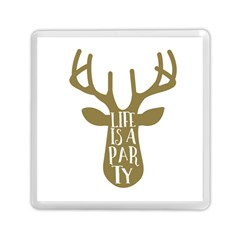 Life Is A Party Buck Deer Memory Card Reader (Square)