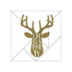 Life Is A Party Buck Deer Acrylic Tangram Puzzle (4  x 4 )