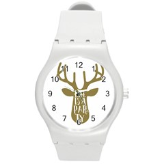 Life Is A Party Buck Deer Round Plastic Sport Watch (M)