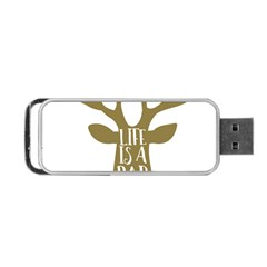 Life Is A Party Buck Deer Portable USB Flash (One Side)