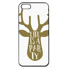 Life Is A Party Buck Deer Apple iPhone 5 Seamless Case (Black)