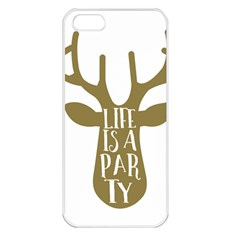 Life Is A Party Buck Deer Apple iPhone 5 Seamless Case (White)