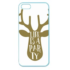 Life Is A Party Buck Deer Apple Seamless iPhone 5 Case (Color)