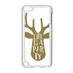 Life Is A Party Buck Deer Apple iPod Touch 5 Case (White)