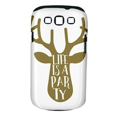 Life Is A Party Buck Deer Samsung Galaxy S III Classic Hardshell Case (PC+Silicone)