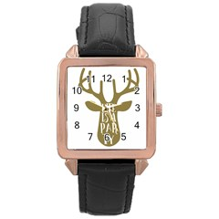 Life Is A Party Buck Deer Rose Gold Watches