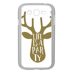 Life Is A Party Buck Deer Samsung Galaxy Grand Duos I9082 Case (white)