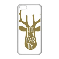 Life Is A Party Buck Deer Apple Iphone 5c Seamless Case (white)
