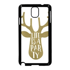 Life Is A Party Buck Deer Samsung Galaxy Note 3 Neo Hardshell Case (Black)