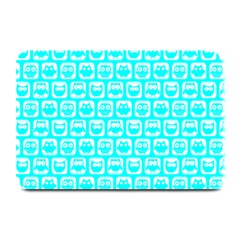 Aqua Turquoise And White Owl Pattern Plate Mats