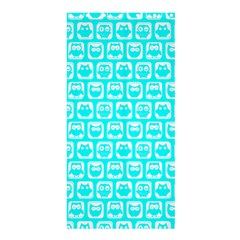 Aqua Turquoise And White Owl Pattern Shower Curtain 36  x 72  (Stall)