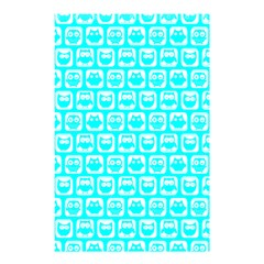 Aqua Turquoise And White Owl Pattern Shower Curtain 48  X 72  (small)