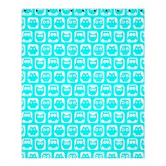Aqua Turquoise And White Owl Pattern Shower Curtain 60  x 72  (Medium)