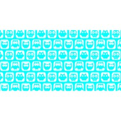 Aqua Turquoise And White Owl Pattern You Are Invited 3d Greeting Card (8x4)