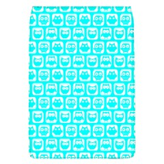 Aqua Turquoise And White Owl Pattern Flap Covers (L)