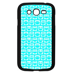 Aqua Turquoise And White Owl Pattern Samsung Galaxy Grand DUOS I9082 Case (Black)