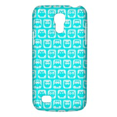 Aqua Turquoise And White Owl Pattern Galaxy S4 Mini