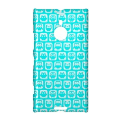Aqua Turquoise And White Owl Pattern Nokia Lumia 1520