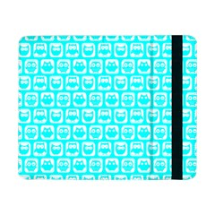Aqua Turquoise And White Owl Pattern Samsung Galaxy Tab Pro 8.4  Flip Case