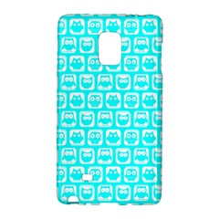 Aqua Turquoise And White Owl Pattern Galaxy Note Edge