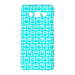 Aqua Turquoise And White Owl Pattern Samsung Galaxy A5 Hardshell Case