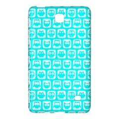 Aqua Turquoise And White Owl Pattern Samsung Galaxy Tab 4 (7 ) Hardshell Case