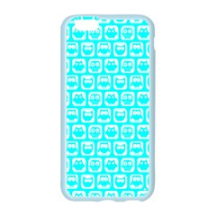 Aqua Turquoise And White Owl Pattern Apple Seamless iPhone 6 Case (Color)