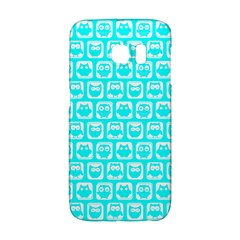 Aqua Turquoise And White Owl Pattern Galaxy S6 Edge