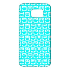 Aqua Turquoise And White Owl Pattern Galaxy S6