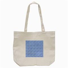 Blue And White Owl Pattern Tote Bag (cream)
