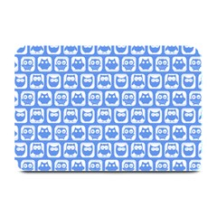 Blue And White Owl Pattern Plate Mats