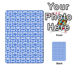 Blue And White Owl Pattern Multi-purpose Cards (Rectangle)
